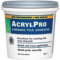 Custom Building Products ARL4000QT 1 Quart AcrylPro Ceramic Tile Mastic, White