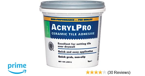 Custom Building Products ARLQT Quart AcrylPro Ceramic Tile - Acrylic tile adhesive vs thinset