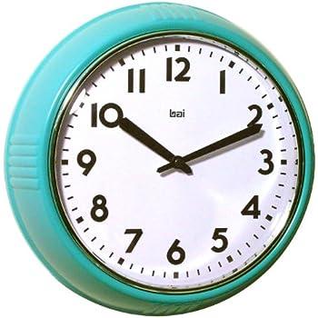 Amazon Com Bai School Wall Clock Turquoise Home Amp Kitchen