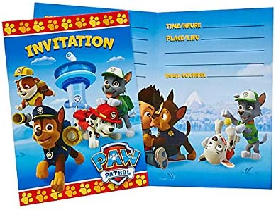 paw patrol party invitations 16ct