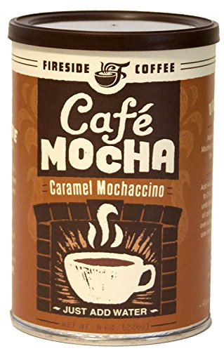 Fireside Coffee Cafe Mocha Instant Flavored Coffee 8 Ounce Canister - Caramel Mochaccino