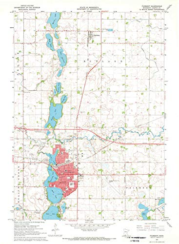 YellowMaps Fairmont MN topo map, 1:24000 Scale, 7.5 X 7.5 Minute, Historical, 1967, Updated 1969, 27.23 x 21.53 in - Paper