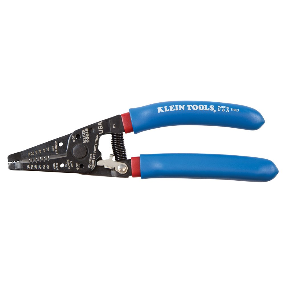 Wire Stripper and Cutter for 20-30 AWG Solid Wire and 22-32 AWG Stranded  Wire Klein Tools 11057 - - Amazon.com