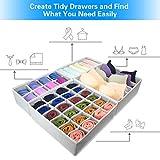 4 Pcs Foldable Drawer Organizer, GOGOODA Desk