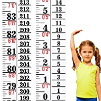 Growth Chart Height Indicator Tape Ruler Height Growth Chart Ruler Height Indicator Adhesive Ruler for Measuring Kids Boys Girls