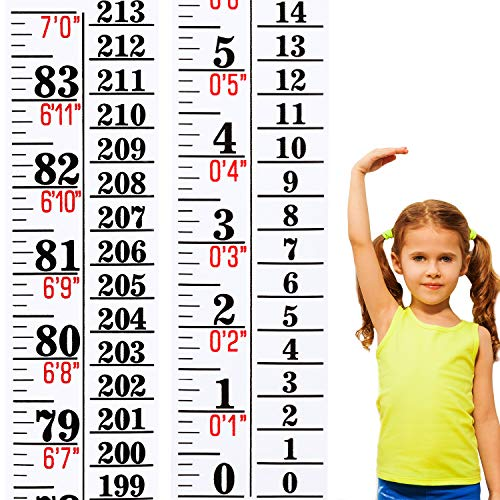 1 Piece Growth Chart Height Indicator Tape Ruler Height Growth Chart Ruler Height Indicator Adhesive Ruler for Measuring Kids Boys Girls (Adult Height Wall Chart)