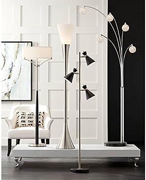 Allegra Mid Century Modern Tall Arc Floor Lamp Tree 5 Light Chrome Black Marble Base Crystal Ball Shades Foot Dimmer Decor For Living Room Reading House Bedroom Home Office Possini Euro Design