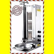 3 BURNER Spinning Grills Vertical Broiler PROPANE GAS Shawarma Gyro Doner Kebab Tacos Al Pastor Grill Machine Rotisserie