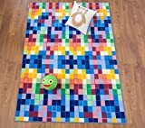 kids area rugs 8x10 - Kids Modern Bright Boxes Design  Non-Slip (Non-Skid) Area Rug 8 x 10 (7' 10