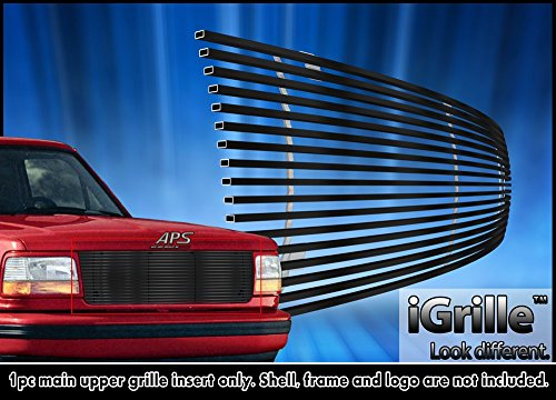 Fits 1992-1996 Ford Bronco/F-150/F-250/F-350 Stainless Black Billet Grille Grill #F85007J (Grill Custom compare prices)