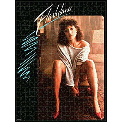 500-Piece Puzzle in Plastic Retro Blockbuster VHS Video Case, Flashdance: Toys & Games