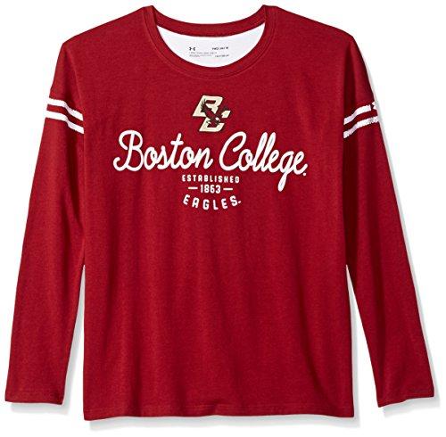 Under Armour NCAA Boston College Eagles Teen-Girls NCAA Girls L/S Striped Tee, Medium, ()