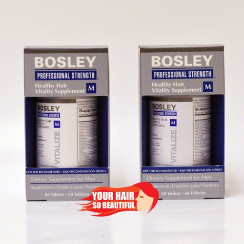 Cheap Bosley Healthy Hair Vitality Supplement for Men 60 Piece Tablets, 2 Count