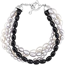 Honora 4-Strand Baroque Freshwater Cultured Pearl Bead Bracelet in Sterling Silver