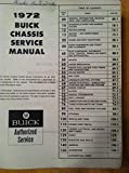 1972 Buick Manual (Chassis Service manual All Series)