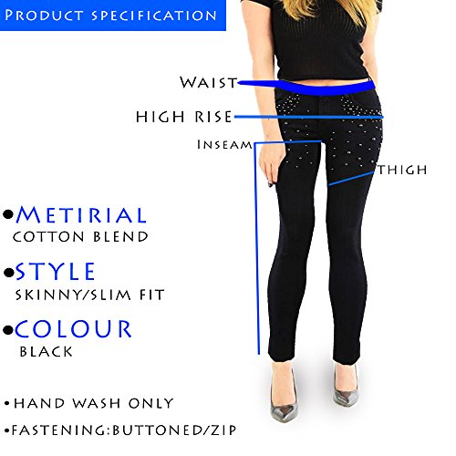 Black Jeans Donna Skinny Studded Xelay Xt7qwq