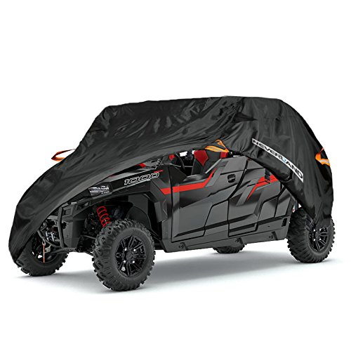 NEVERLAND Heavy Waterproof UTV Cover For Polaris RZR Yamaha Can-Am Defender Kawasaki Ranger Cover 4-6 Passenger ()
