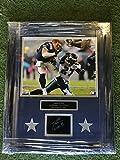 "Custom Framed Jason Witten Dallas Cowboys ""No Helmet-No Problem"" Photo With Laser Etched Autograph Framed"