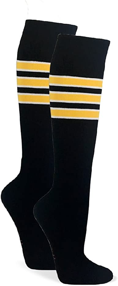 Couver Stripes on Gold Yellow Knee High Sports//Softball Socks 1 pair