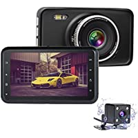 Nesolo Full HD 1080P Car Dash Cam 170° Wide Angle 3 LCD Dashboard Camera DVR Video Recorder Dual Lens Front+Rear with HDR Night Vision,Loop Recording,Parking Mode,G-Sensor