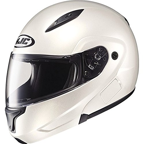 HJC Metallic Men's CL-MAX II Bluetooth On-Road Motorcycle Helmet - Pearl White / Large