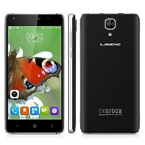 "Landvo XM200 Pro - 4G Smartphone Libre Android 6.0 (Pantalla 5.0"", MT6737 Quad Core 1.3GHz, 2G Ram, 16G Rom, Dual Sim, Dual ID, Smart Wake, Wifi, Bluetooth) (Negro)."