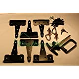 "Shed Door Hardware Kit, Colonial T Hinges 6"", T Handle, Barrel Bolts by Shed Windows and More"