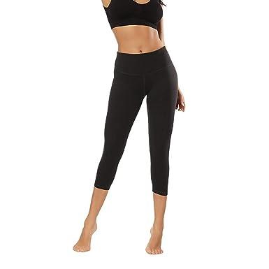 Mujeres Color Sólido Caderas Siete Puntos Pantalones De Yoga ...