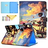 Uliking Case for iPad Pro 11 Case 2018 Release, Premium PU Leather Case Cartoon Skinshell Kickstand Protective Smart Cover with Auto Wake/Sleep for Apple iPad Pro 11 Inch 2018, Bicycle Boy