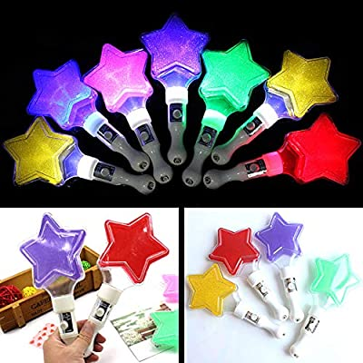 Bluelans Creative Glow Light Star Wand Stick Night Party Performance Decor Light Up Kids Toy Props for Boys Girls Xmas Gifts Xmas Stocking Fillers Party Bag Gifts: Toys & Games
