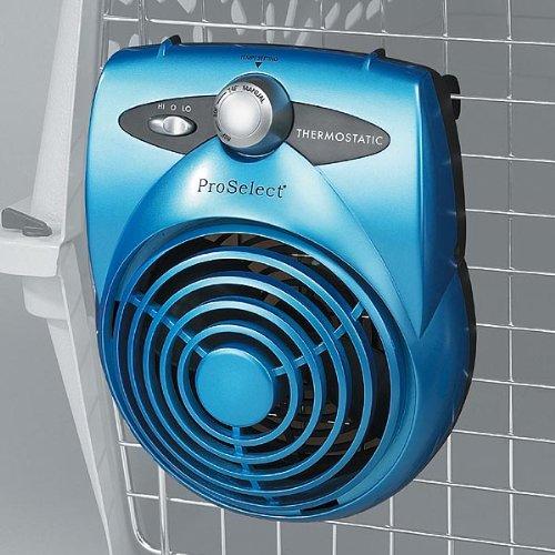 rmostatic Pet Crate Fan, Ice Blue (Crate Cooling Fan)
