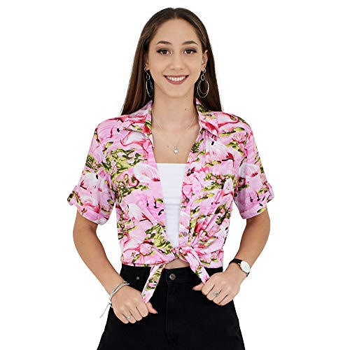 ISLAND STYLE CLOTHING Ladies Shirt (Pink Flam, M) -