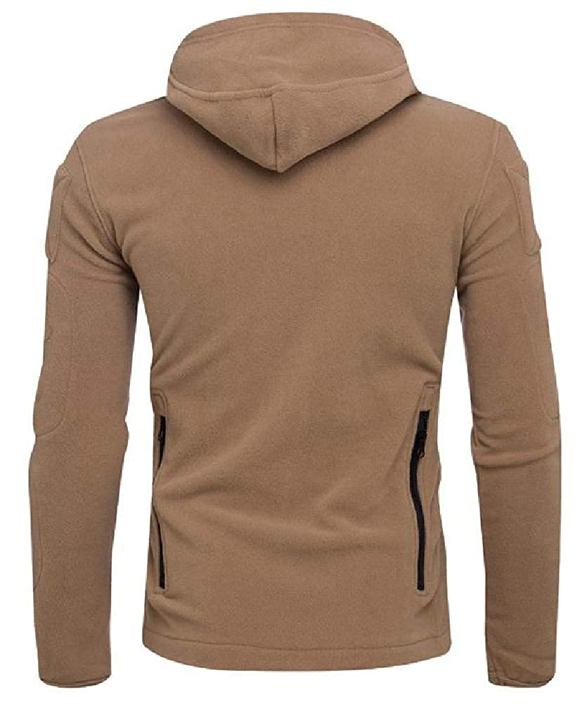 SayahMen Fashion Pure Long-Sleeve Jackets Zip-up Hooded Tracksuit Top