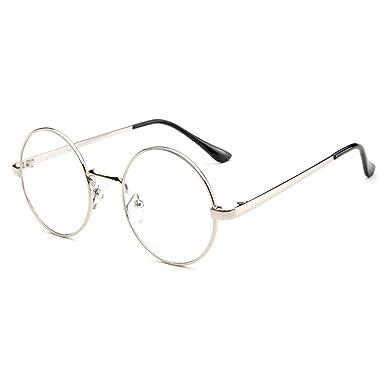 85644aa85bd54 Forepin Lunettes rondes transparent pour femme et homme reg  Métal monture  lunettes de vue vintage