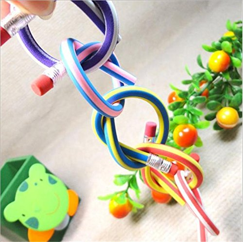 Haawooky 35 Pieces Flexible Soft Pencil Magic Bend Pencils for Kids Children School Fun Equipment by Haawooky (Image #4)