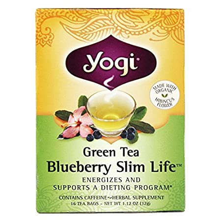 Health Shopping Yogi Tea, Green Tea Blueberry Slim Life, 16 Count