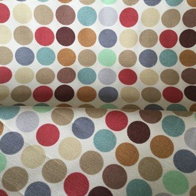 Spot lienzo tela – lunares color crema – algodón pato lienzo – horcan02 – por 100 cm x 145 cm – por Peter Horton – 100% algodón Lienzo: Amazon.es: Hogar