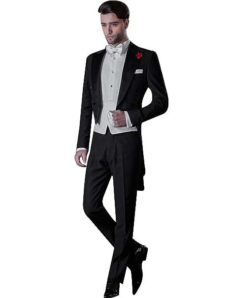 CALVINSUIT Hombre Traje de Cola para Hombre Formal Slim Fit ...
