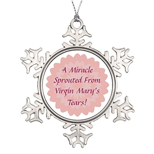 Tree Branch Decoration Mother's Day Corsage-Customize Pewter Snowflake Ornaments Virgin ()
