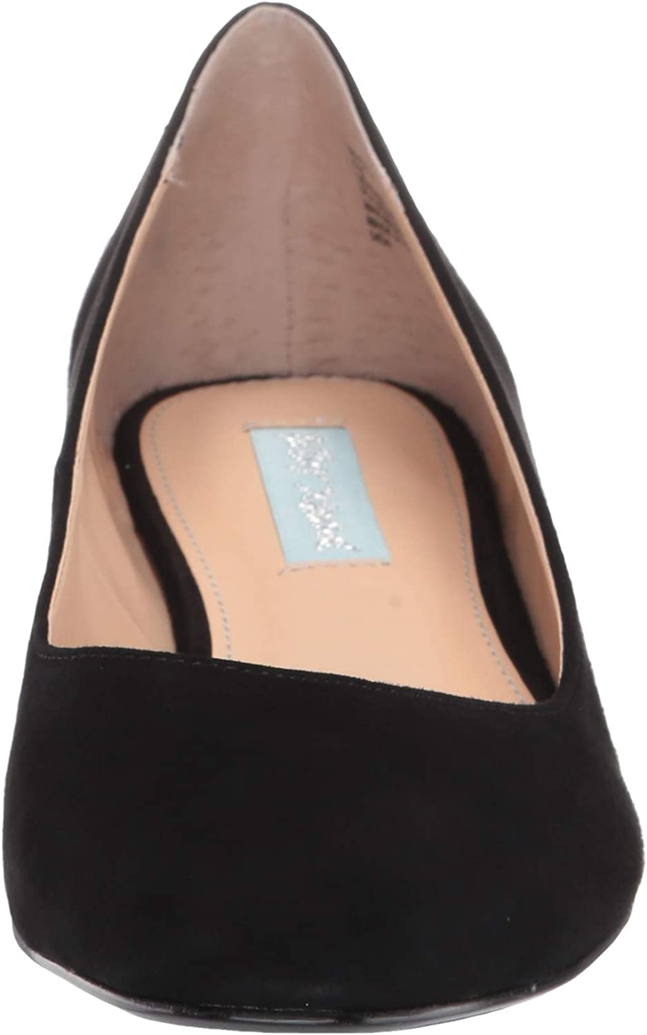 Blue by Betsey Johnson Women's Sb-Frida Ballet Flat Black Suede