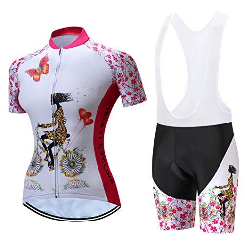 Summer Cycling Jersey Set Women Pro Team Cycling Clothing Breathable Bicycle Clothes Quick Dry Bike Jersey Kits