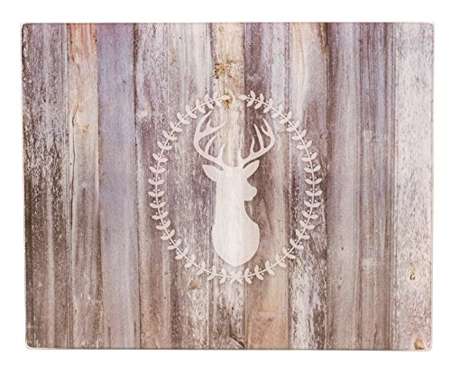 Brownlow Gifts Glass Cutting Board, Yes Deer! ()