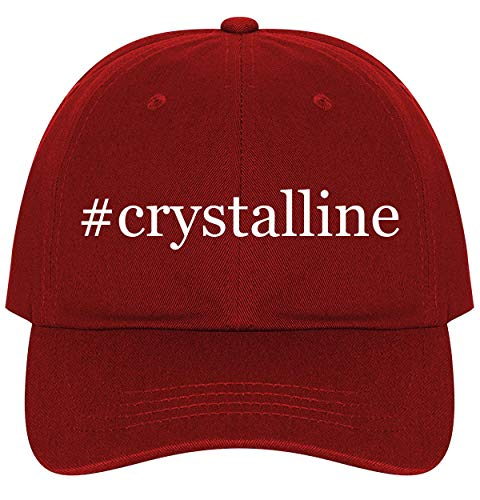 #crystalline - A Nice Comfortable Adjustable Hashtag Dad Hat Cap, Red, One Size