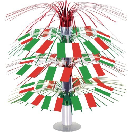 Italian Flag Cascade Centerpiece Party Accessory (1 count) (1/Pkg)