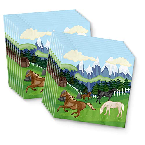 (BirthdayGalore Wild Horses Party Supplies Napkins 100pcs Value Pack)