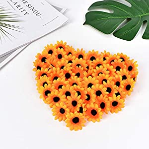 HZOnline Artificial Silk Daisy Flower Heads, Fake Fabric Gerbera Floral Head for DIY Easter Eggs 4