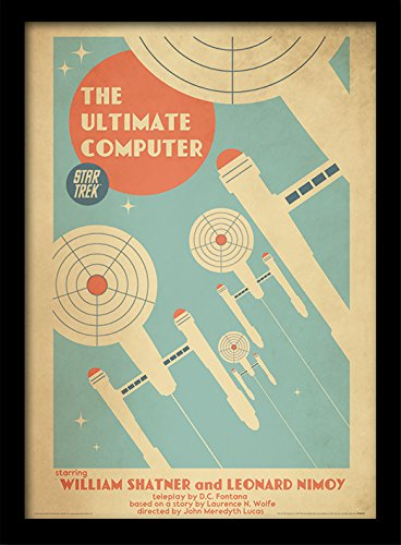 Star Trek The Ultimate Computer Framed 30 x 40 Official Print - Overall Size: 36 x 46 cm (14 x 18 inches) Print Size: 30 x 40 cm