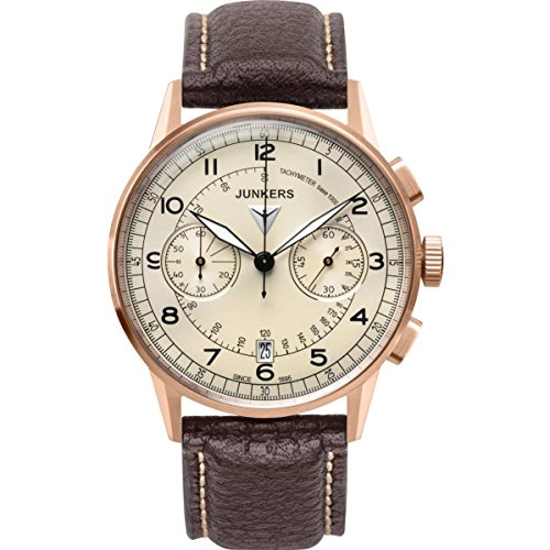 Junkers G38 6972-1 Chronograph gold braun 42 mm 100M