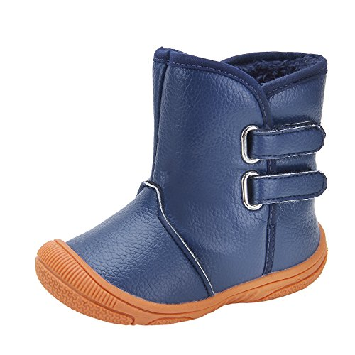 kuner-baby-boys-pu-leather-faux-fleece-rubber-soles-warm-snow-boots