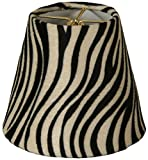 Royal Designs 5'' Black & White Zebra Print Chandelier Lamp Shade, 3 x 5 x 4.5 (CS-961-5)